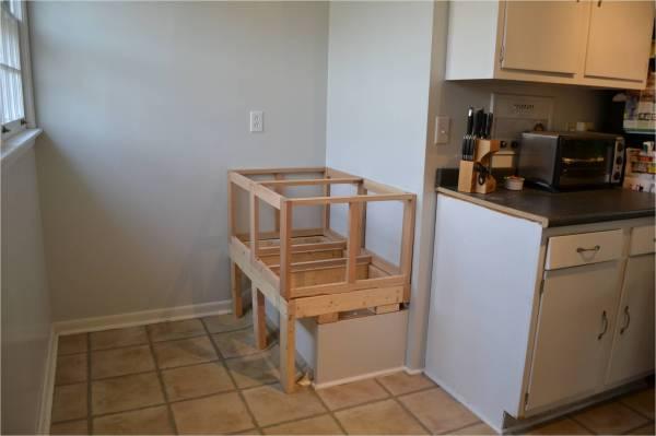 base cabinet frame