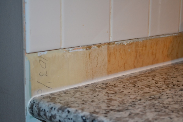 backsplash in the kitchen
