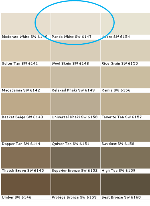 10 day kitchen makeover part i for Oil paint colors names
