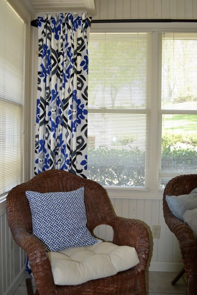 Diy hidden tab curtains for Sunroom curtains