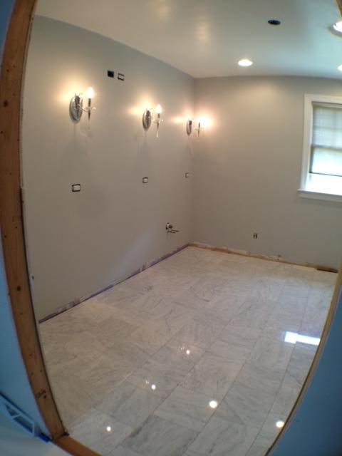 marble floor sealed