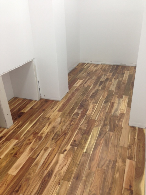 acacia floor closet